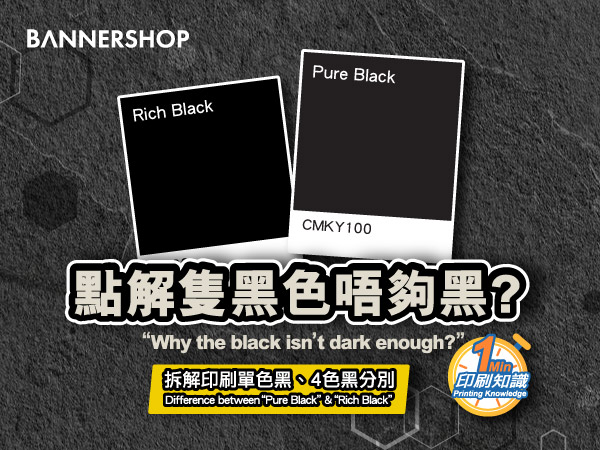 """The difference between """"Pure Black"""" & """"Rich Black"""""""
