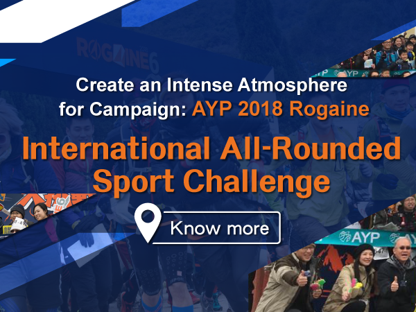 BΛNNERSHOP Corporate Create an Intense Atmosphere for Campaign:AYP 2018 Rogaine - International All-Rounded Sport Challenge