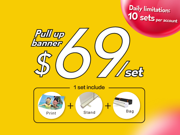 pull up banner; roll up banners